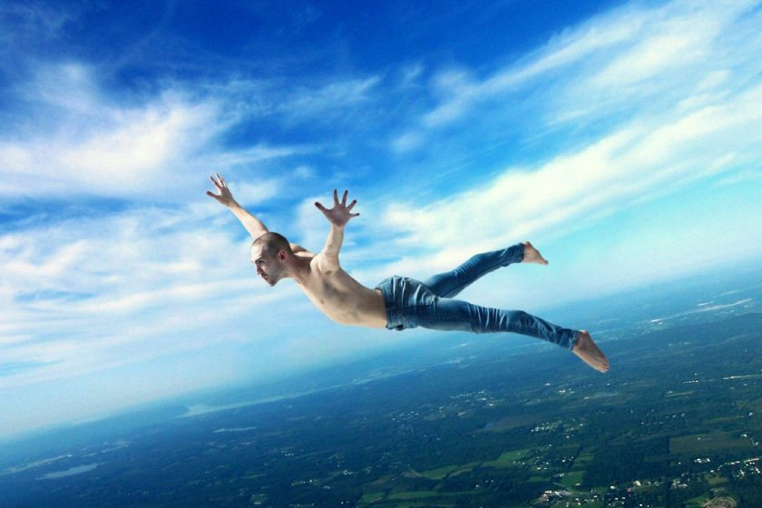 flying in a lucid dream