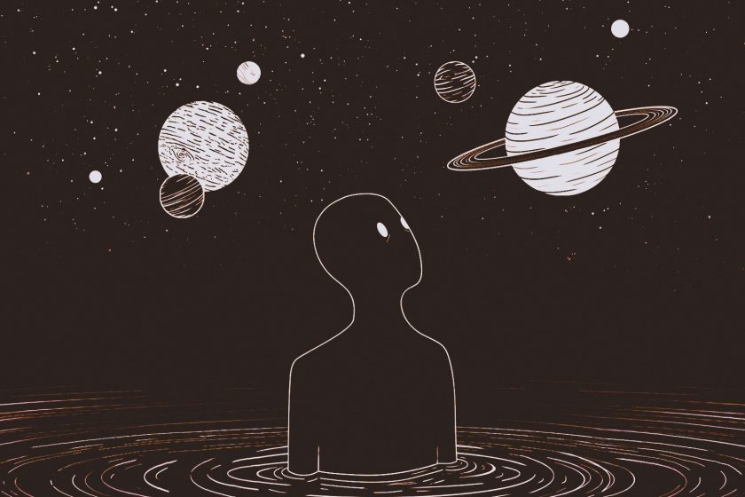 go into space in a lucid dream