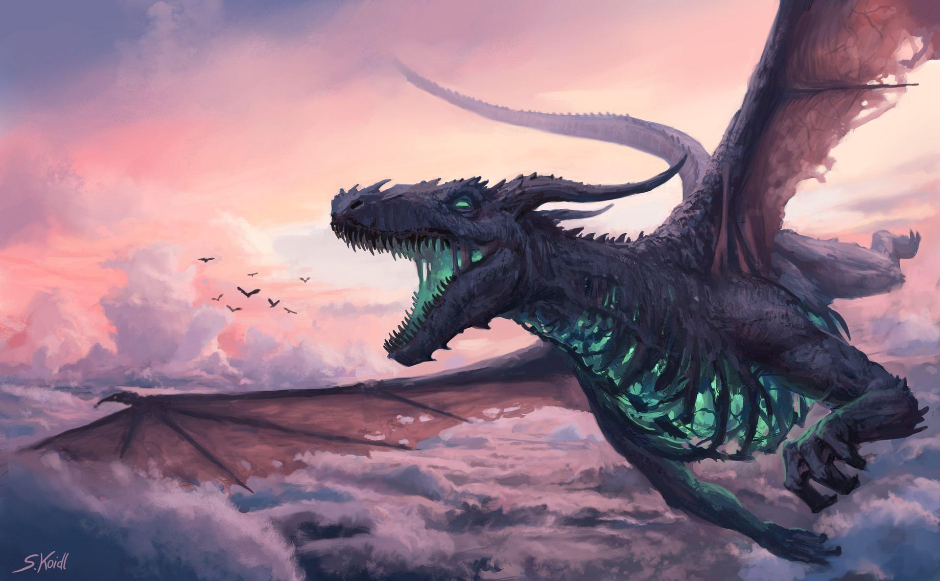 Flying dragon in a lucid dream
