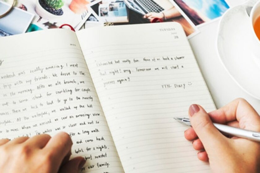 Writing in my dream journal