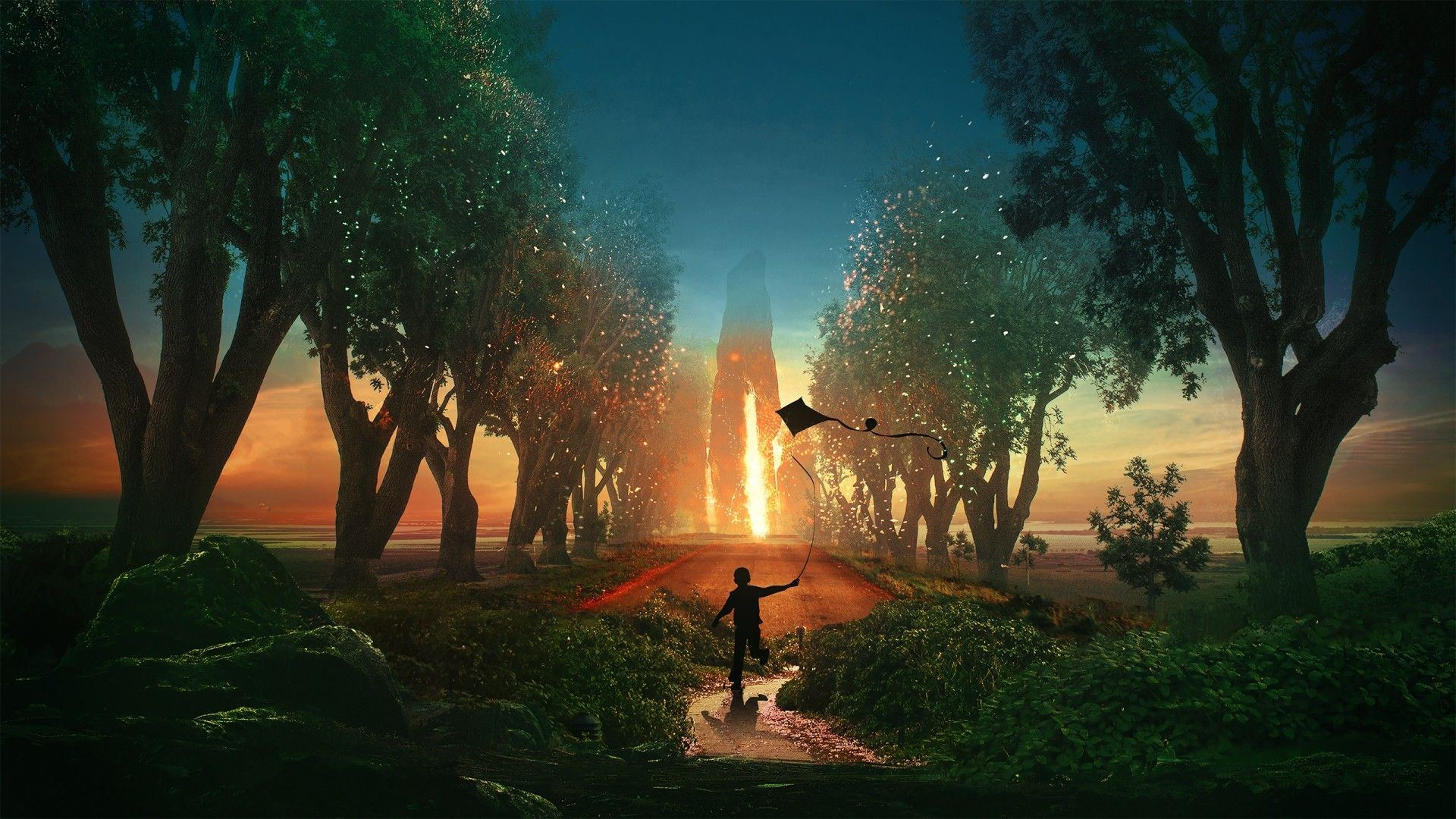 kid in a fantasy lucid dream