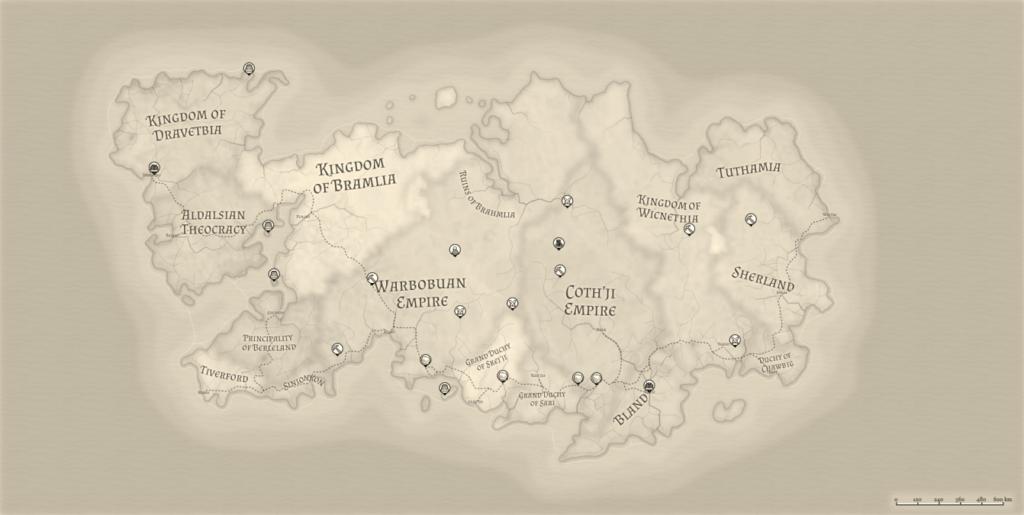 Night Realm Mindscape Map